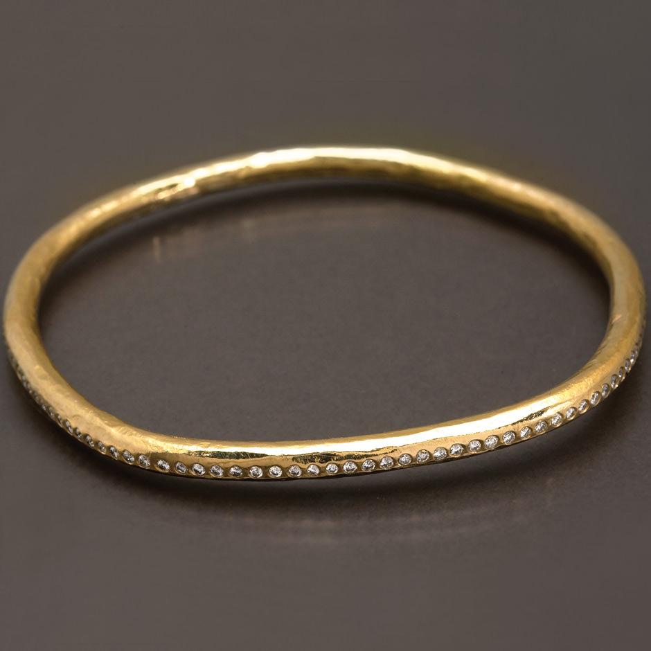 diamonds and gold bracelet